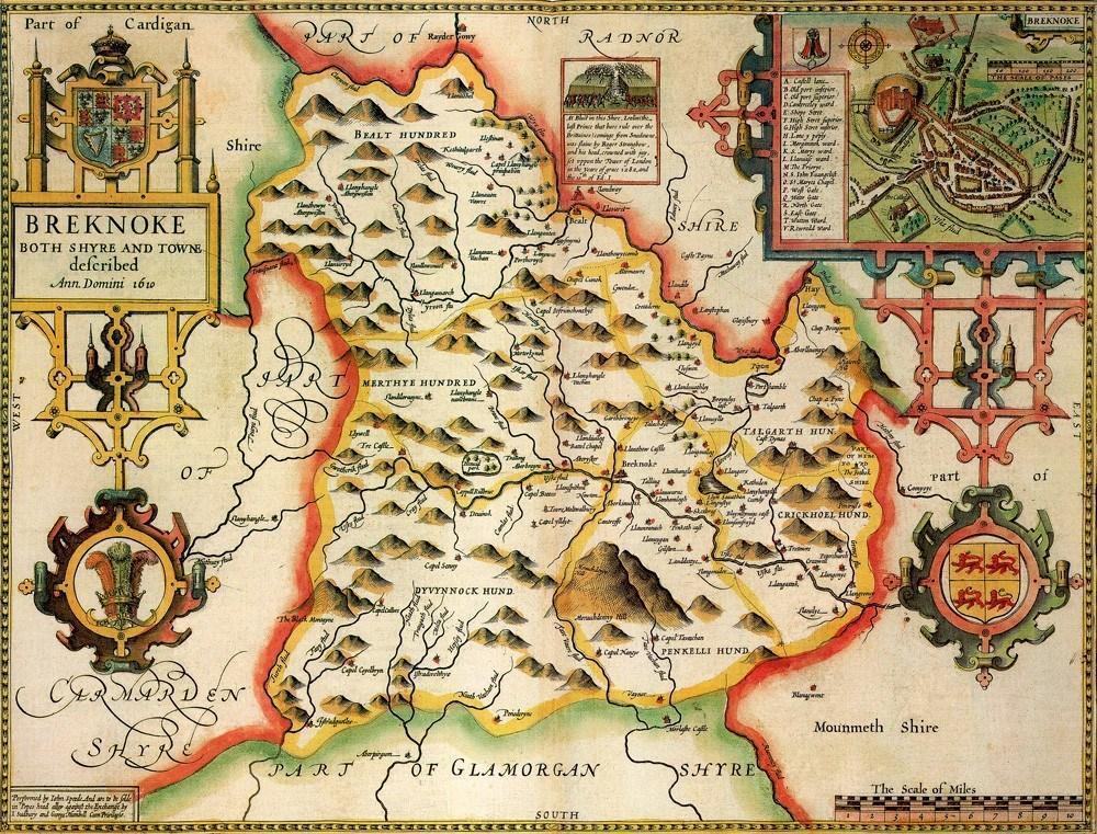 Breconshire Historical Map 1000 Piece Jigsaw Puzzle (1610) - All Jigsaw Puzzles