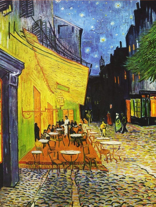 Cafe Terrace at Night by Van Gogh 1000 or 500 Piece Jigsaw Puzzles - All Jigsaw Puzzles