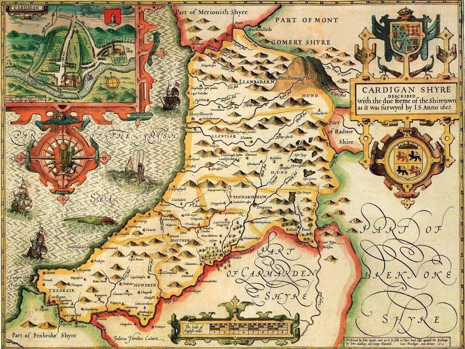 Cardiganshire Historical Map 1000 Piece Jigsaw Puzzle (1610) - All Jigsaw Puzzles