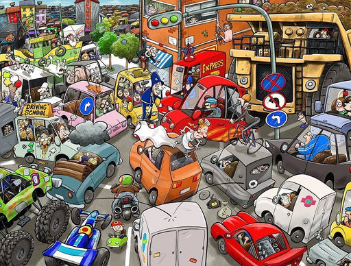 Chaos on the Road 1000 or 500 Piece Jigsaw Puzzle - All Jigsaw Puzzles