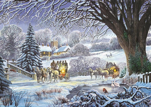 Christmas Coaches by Steve Crisp 1000 or 500 Piece Jigsaw Puzzle - All Jigsaw Puzzles