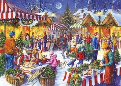 Christmas Fayre 1000 Piece Jigsaw Puzzle - All Jigsaw Puzzles