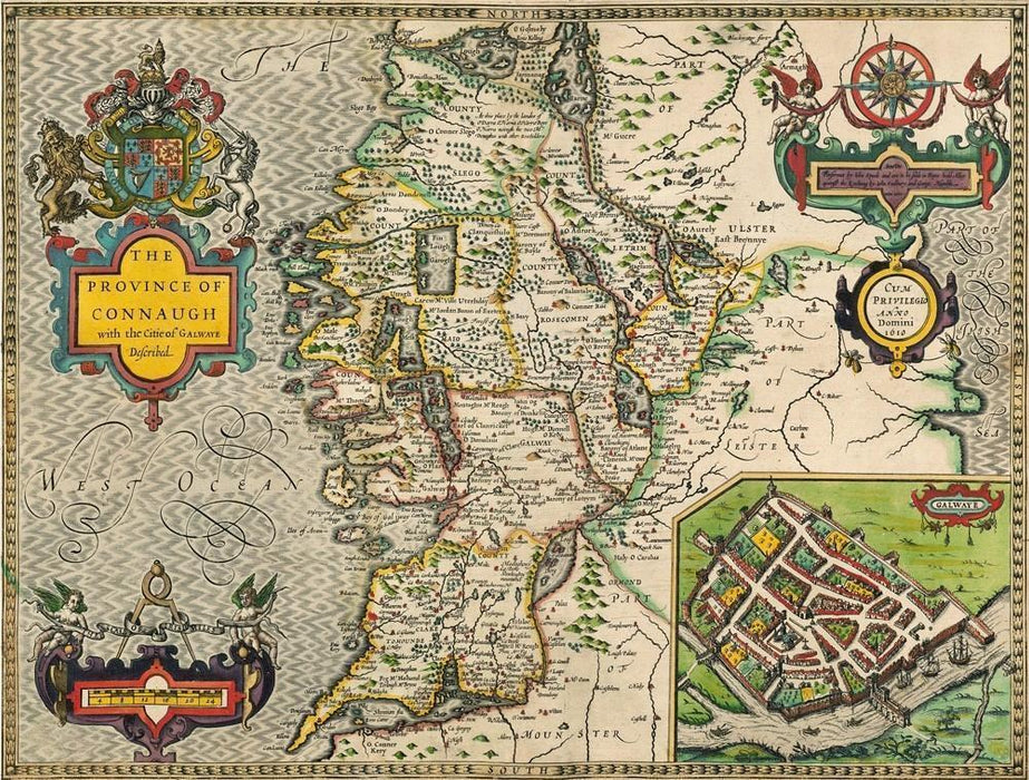 Connaugh Historical Map 1000 Piece Jigsaw Puzzle (1610) - All Jigsaw Puzzles
