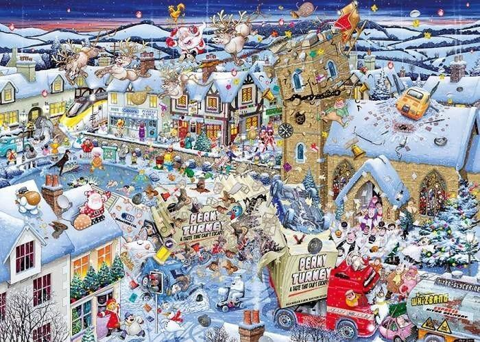 I Love Christmas 1000 Piece Mike Jupp Jigsaw Puzzle - All Jigsaw Puzzles
