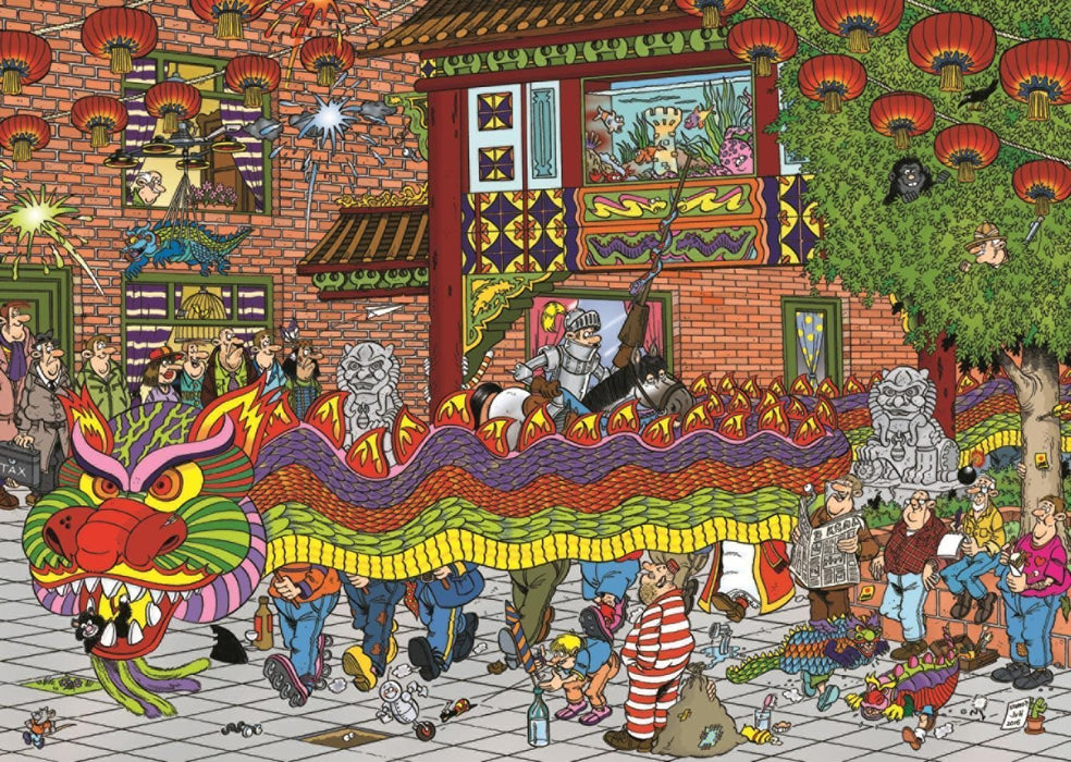 Jan van Haasteren - Chinese New Year 500 Piece Jigsaw Puzzle - All Jigsaw Puzzles