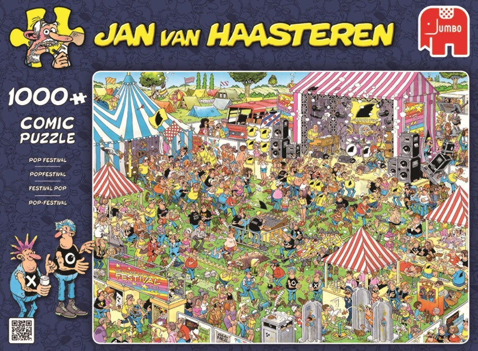 Jan van Haasteren Pop Festival 1000 Piece Jigsaw Puzzle - All Jigsaw Puzzles
