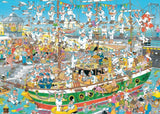 Jigsaw Puzzle - Jan Van Haasteren Tall Ship Chaos 1000 Piece Jigsaw Puzzle
