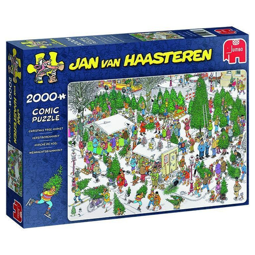 Jan van Haasteren - The Christmas Tree Market 2000 Piece Jigsaw Puzzle - All Jigsaw Puzzles