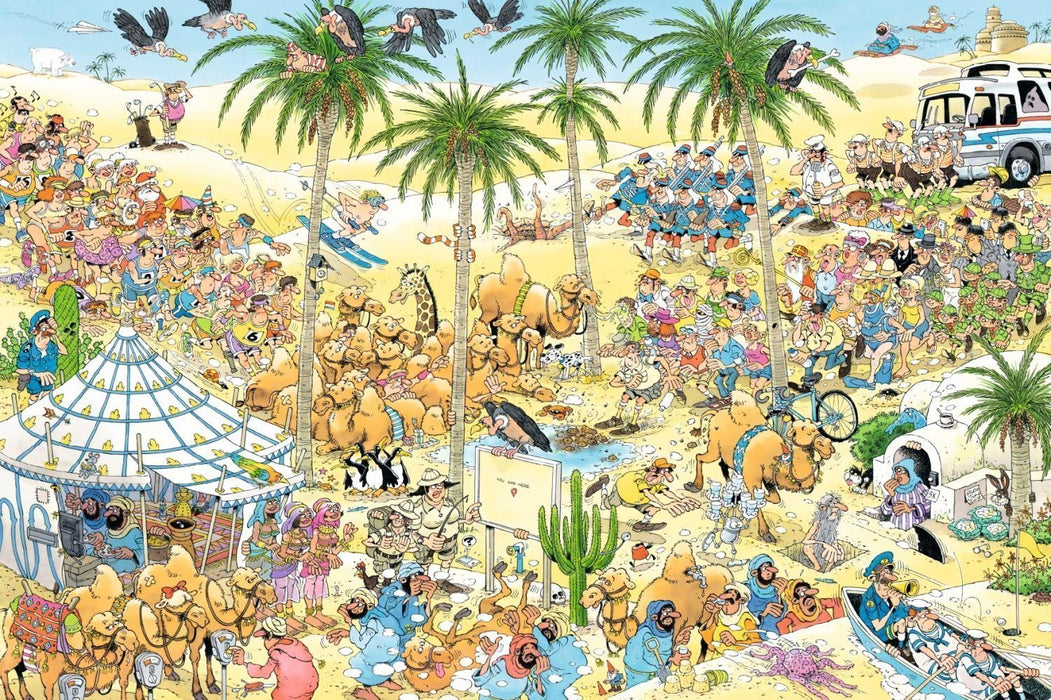 Jan van Haasteren The Oasis 1500 Piece Jigsaw Puzzle - All Jigsaw Puzzles