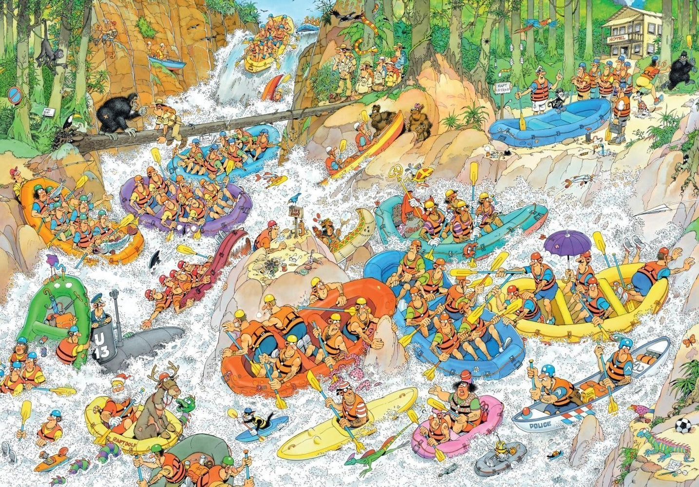 Jan van Haasteren Wild Water Rafting 3000 Piece Jigsaw Puzzle - All Jigsaw Puzzles