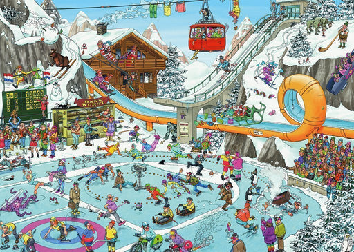 Jan van Haasteren Winter Games 1000 Piece Jigsaw Puzzle - All Jigsaw Puzzles
