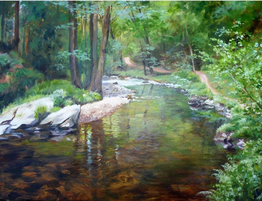 River Bend, Exmoor Jigsaw Puzzle - Gill Erskine-HIll - All Jigsaw Puzzles
