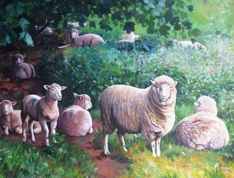 Sheep in Shade - 1000 Piece Jigsaw Puzzle - All Jigsaw Puzzles