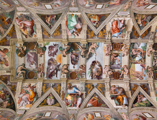 Sistine Chapel Ceiling by Michelangelo Jigsaw Puzzle' 1000 or 500 Pieces - All Jigsaw Puzzles