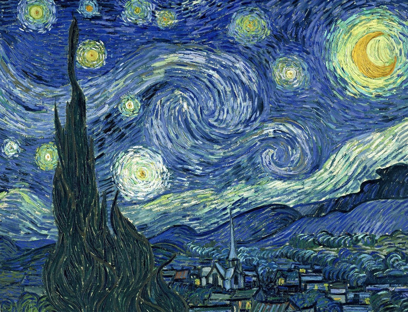 Starry Night by Vincent van Gogh Jigsaw Puzzle, 500 or 1000 Pieces - All Jigsaw Puzzles
