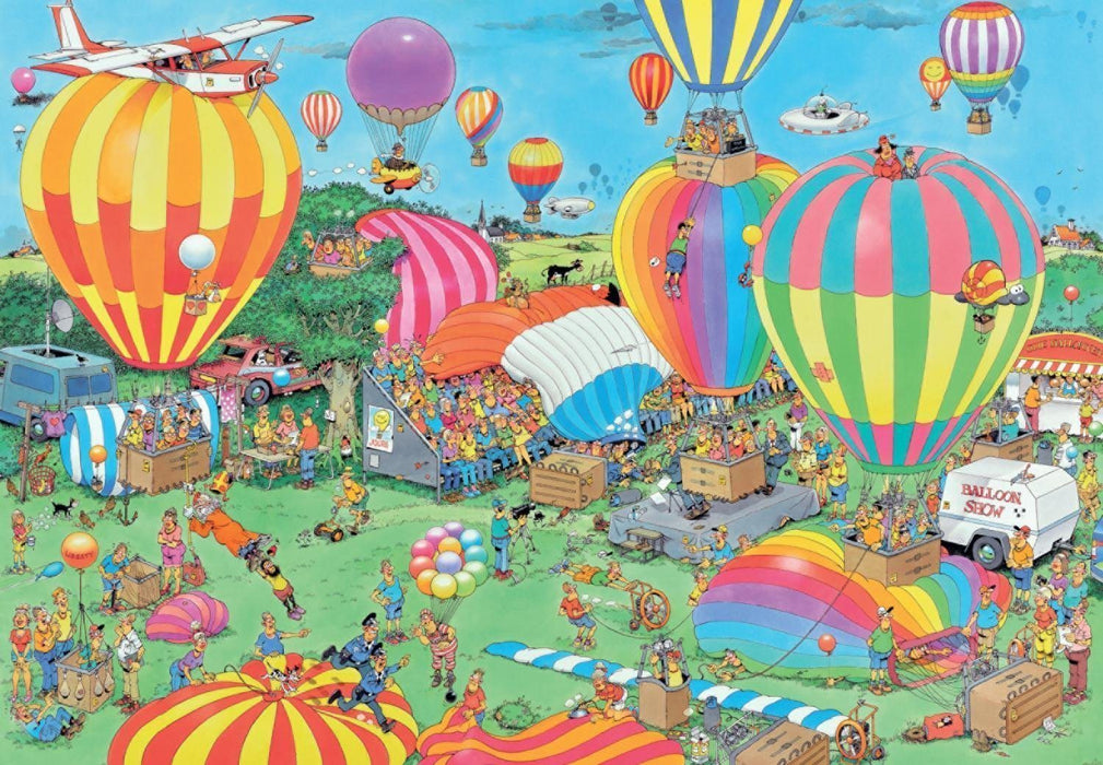 The Balloon Festival - Jan van Haasteren 2000 Piece Jigsaw Puzzle - All Jigsaw Puzzles