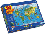 The JigMap - World Map 250 piece Jigsaw Puzzle - All Jigsaw Puzzles UK