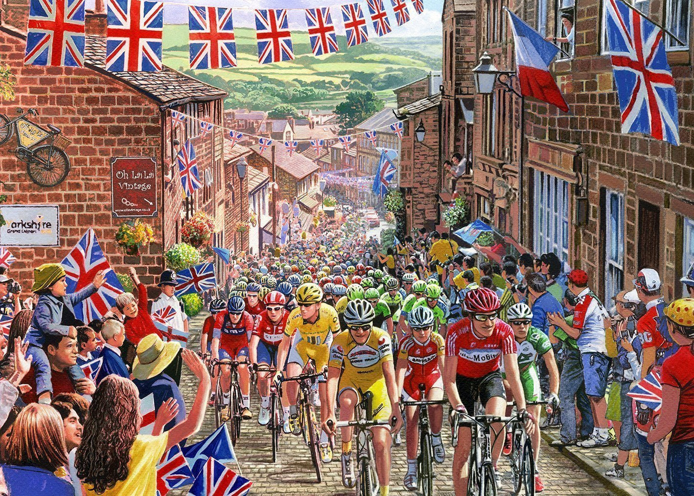The Tour de Yorkshire - Steve Crisp 1000 Piece Jigsaw Puzzle - All Jigsaw Puzzles