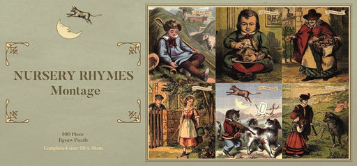 Traditional Nursery Rhymes Montage 1000 or 500 Piece Jigsaw Puzzle - All Jigsaw Puzzles