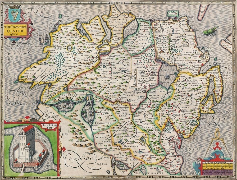 Ulster Historical Map 1000 Piece Jigsaw Puzzle (1610) - All Jigsaw Puzzles