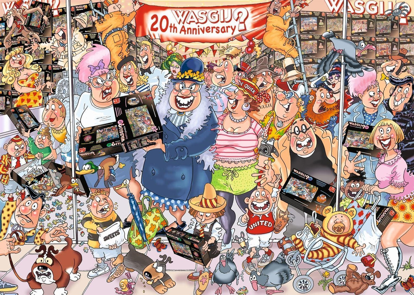 Wasgij 27 Original: The 20th Birthday Parade! 2 x 1000 Piece Jigsaw Puzzles - (Inc Free 1000 Piece Puzzle) - All Jigsaw Puzzles