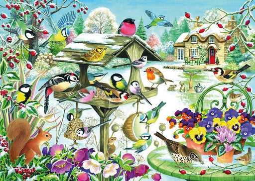 Winter Garden Birds 500 Piece Jigsaw Puzzle