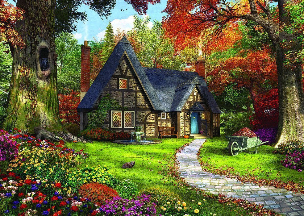 Woodland Cottages 2 x 500 Piece Jigsaw Puzzle - All Jigsaw Puzzles