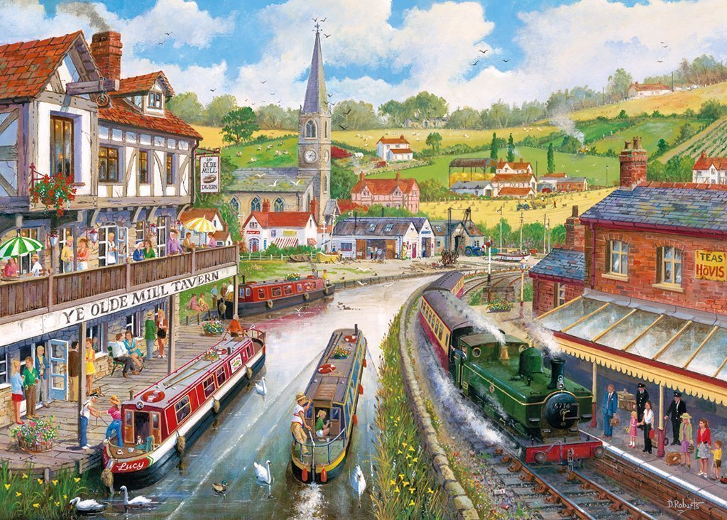 Ye Olde Mill Tavern 1000 Piece Jigsaw Puzzle - All Jigsaw Puzzles