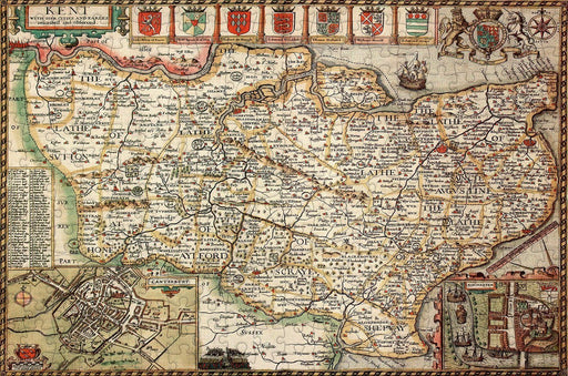 Kent 1610 Historical Map 300 Piece Wooden Jigsaw Puzzle - All Jigsaw Puzzles