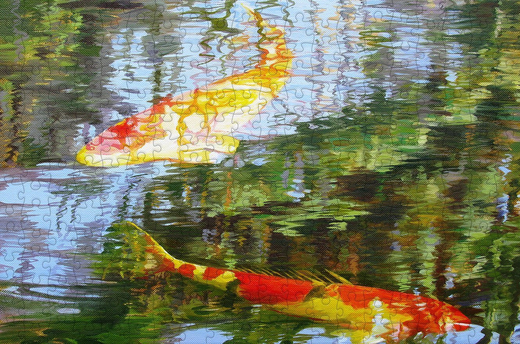 Koi Carp 300 Piece Wooden Jigsaw Puzzle - All Jigsaw Puzzles