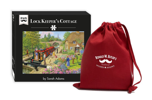 Lock Keeper's Cottage - Sarah Adams - 300 Piece Wooden Jigsaw Puzzle - All Jigsaw Puzzles