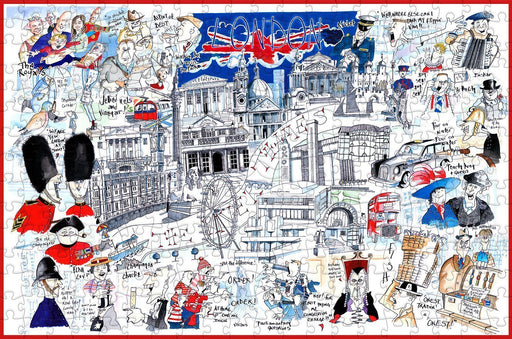 Map of London - Tim Bulmer - 300 Piece Wooden Jigsaw Puzzle - All Jigsaw Puzzles