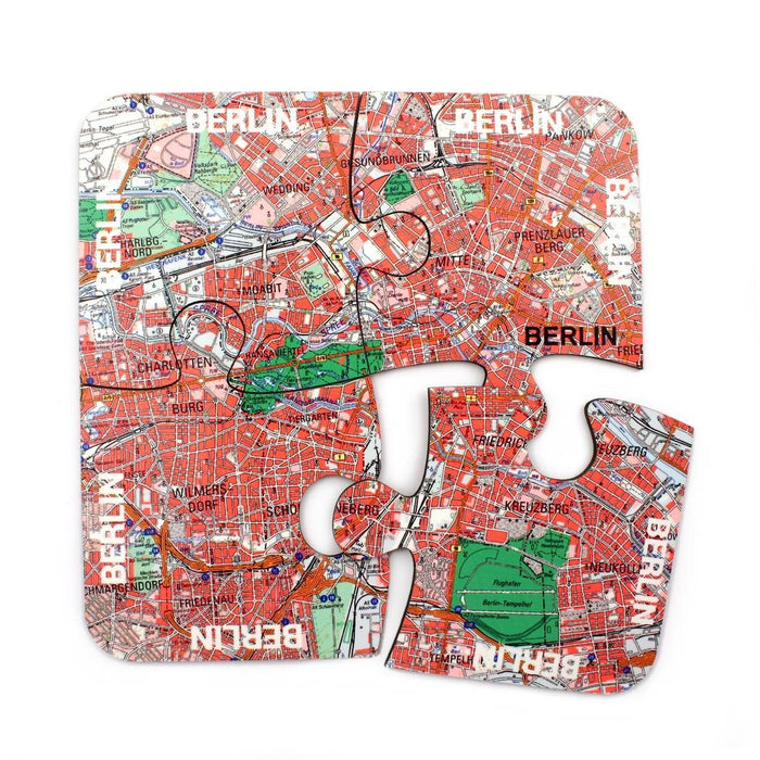 World City Map Jigsaw Coasters - All Jigsaw Puzzles