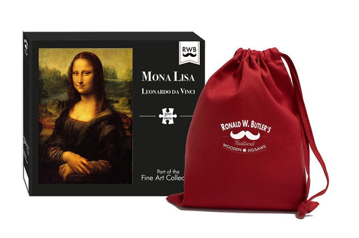 Mona Lisa by Leonardo da Vinci 300 Piece Wooden Jigsaw Puzzle - All Jigsaw Puzzles