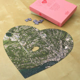 Personalized Jigsaw Puzzles - Heart Shaped Personalized Map Jigsaw Puzzle