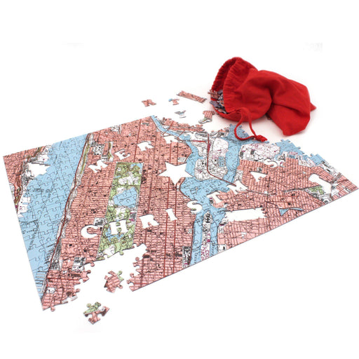 Personalized Jigsaw Puzzles - Merry Christmas Map Jigsaw Puzzle