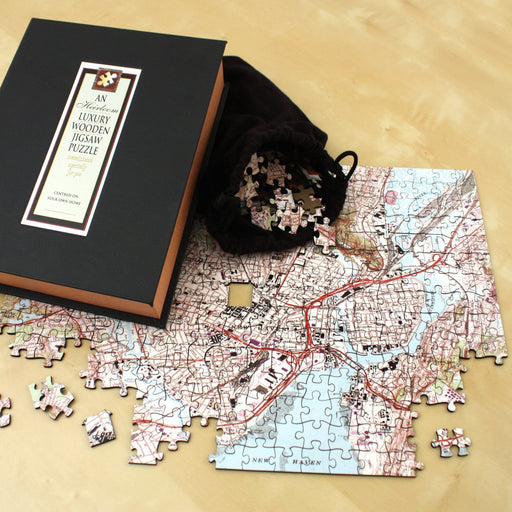 """My Hometown"" Personalized Wooden Jigsaw Puzzle - All Jigsaw Puzzles"