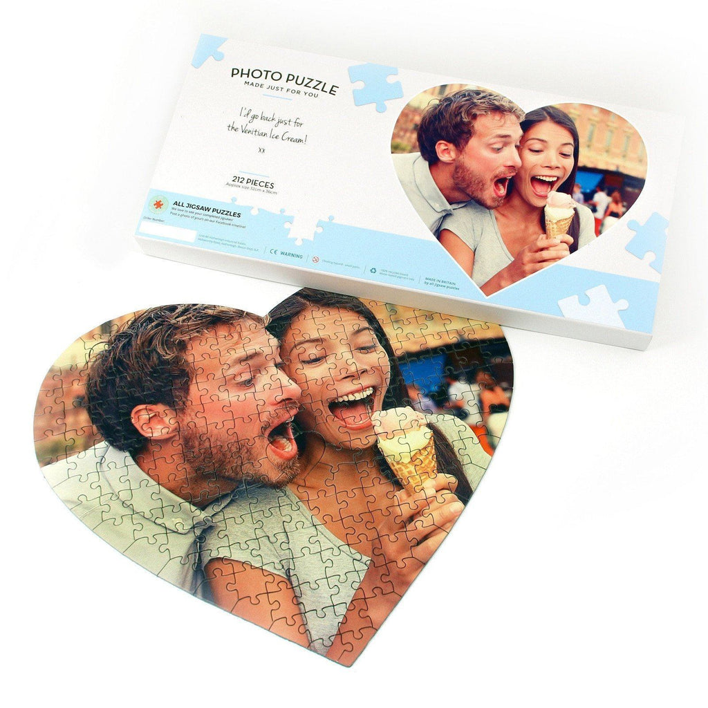 personalized heart shaped jigsaw puzzle add your own photo