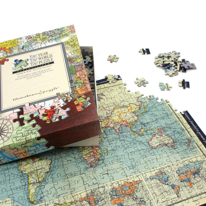Personalized Jigsaw Puzzles - Personalized World Map Jigsaw Puzzle