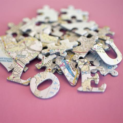 We First Met Here - Personalized Jigsaw Puzzle - All Jigsaw Puzzles
