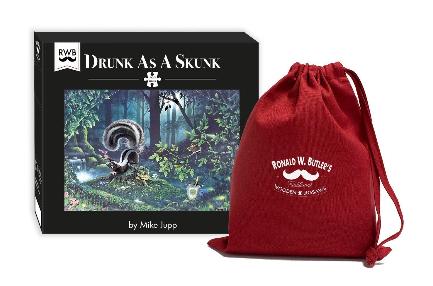 Drunk as a Skunk - Mike Jupp 300 Piece Wooden Jigsaw Puzzle - All Jigsaw Puzzles