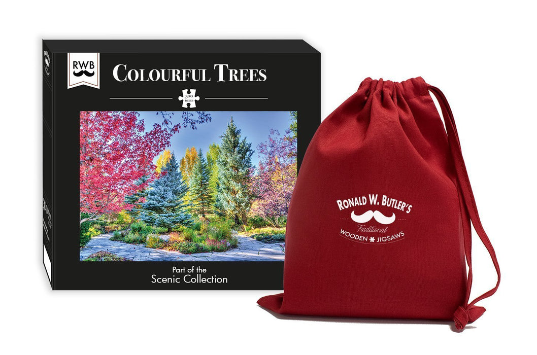 Colourful Trees - 300 Piece Wooden Jigsaw Puzzle - All Jigsaw Puzzles