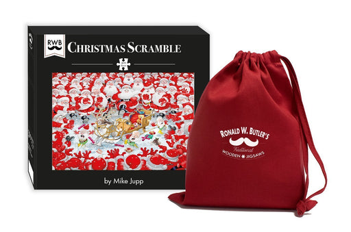 Christmas Scramble - Mike Jupp 300 Piece Wooden Jigsaw Puzzle - All Jigsaw Puzzles