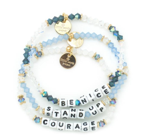 awareness wristband speak stop bully blue rubber bullying up stand wristbands bracelet adult