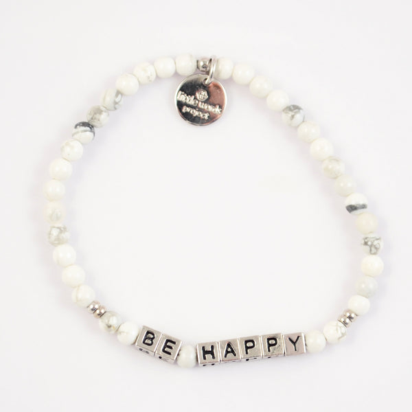 Load image into Gallery viewer, Be Happy- White Howlite