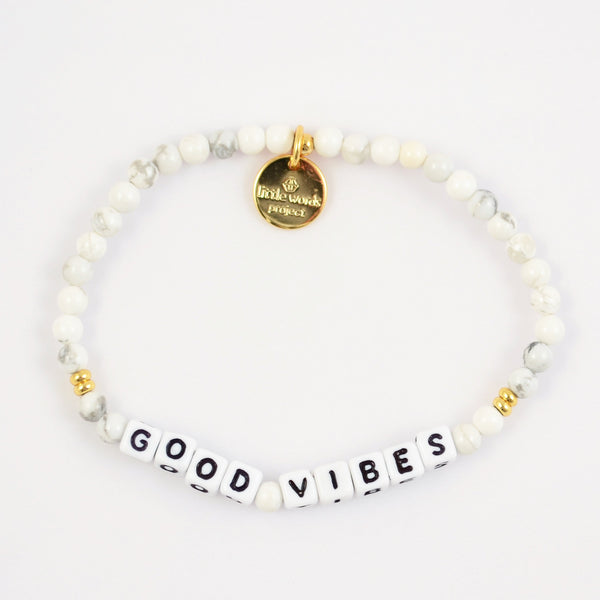 Good Vibes- White Howlite
