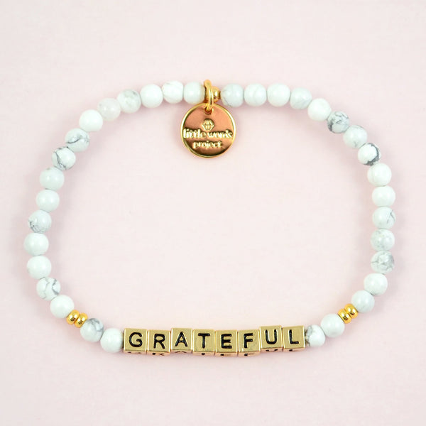 Grateful- White Howlite