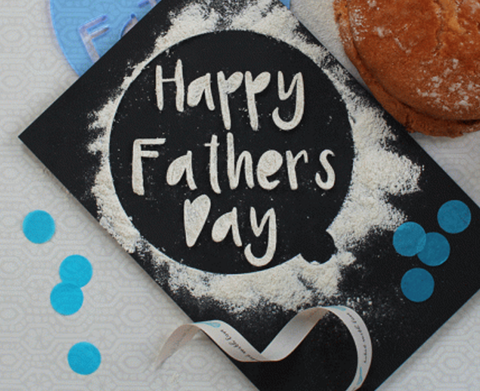 Fathers Day Cake Stencil