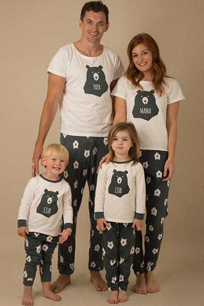 Bear Hugs Matching Pyjamas MAMA, PAPA and Two Bear CUBS Bundle - Great and small clothing
