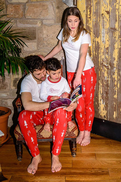 Elf for Christmas Matching Family Pyjamas Two Adults and One Child Bundle